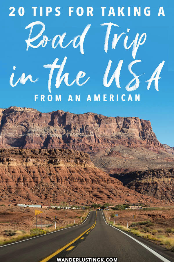 20 Essential tips for taking a road trip in the United States for the first time, including money-saving hacks!