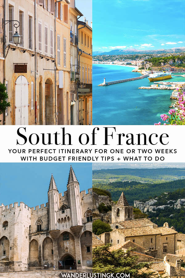 Planning your trip to the South of France? Read your perfect itinerary for the South of France, focused on Provence, for two weeks or one week! Includes cost-cutting tips and what to do in each city!