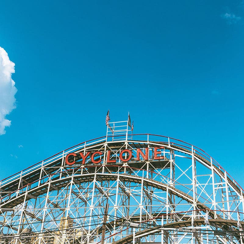 Cyclone, New York's wooden roller coaster that you have to ride!