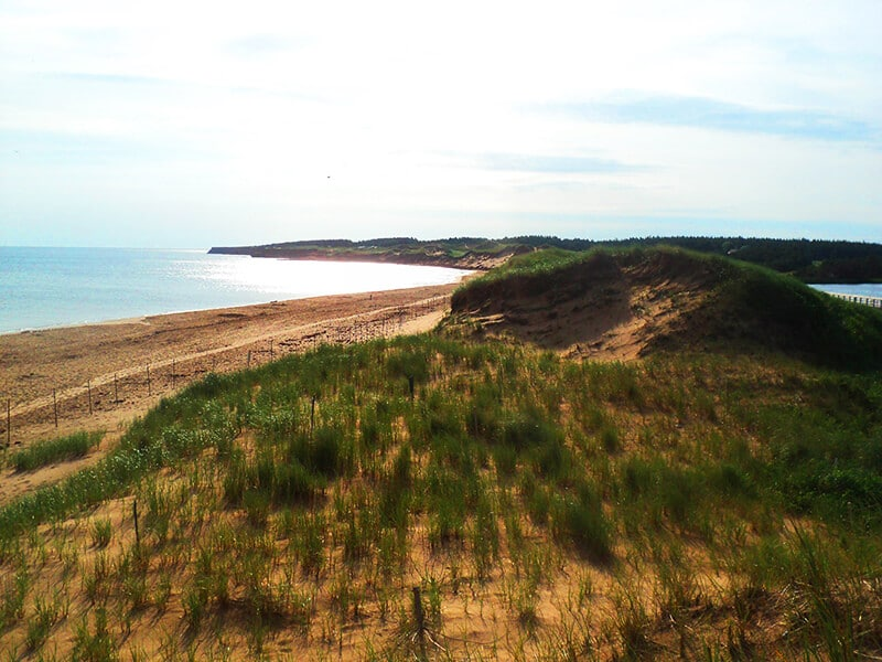 Beautiful sunny day at Cavendish Beach National Park in Prince Edward Island, one of the best things to do on PEI
