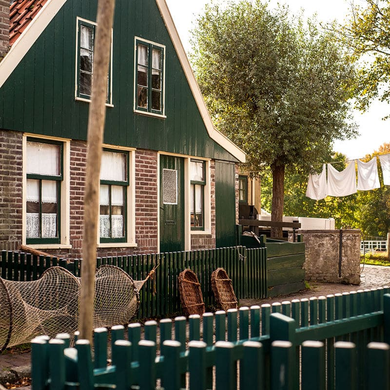 Beautiful traditional house in the Zuiderzeemuseum in Enkhuizen, a history museum in Enkhuizen that you can't miss on your visit to Enkhuizen!