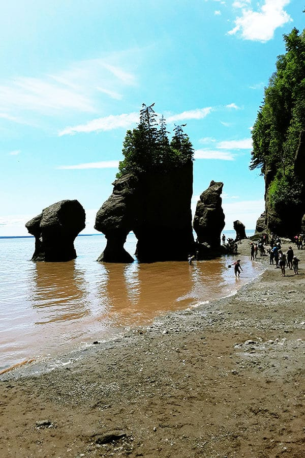Hopewell Rocks in New Brunswick, one of the most beautiful stop offs on a New Brunswick road trip!