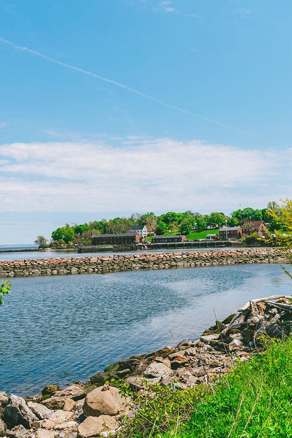 Beautiful sunny day with views of Fort Totten, Queens, one of the best alternative places to visit in New York City!
