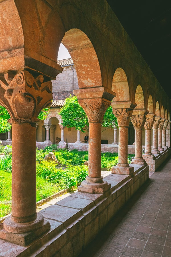 Columns of the Cloisters, a medieval museum in New York that is part of the Met!