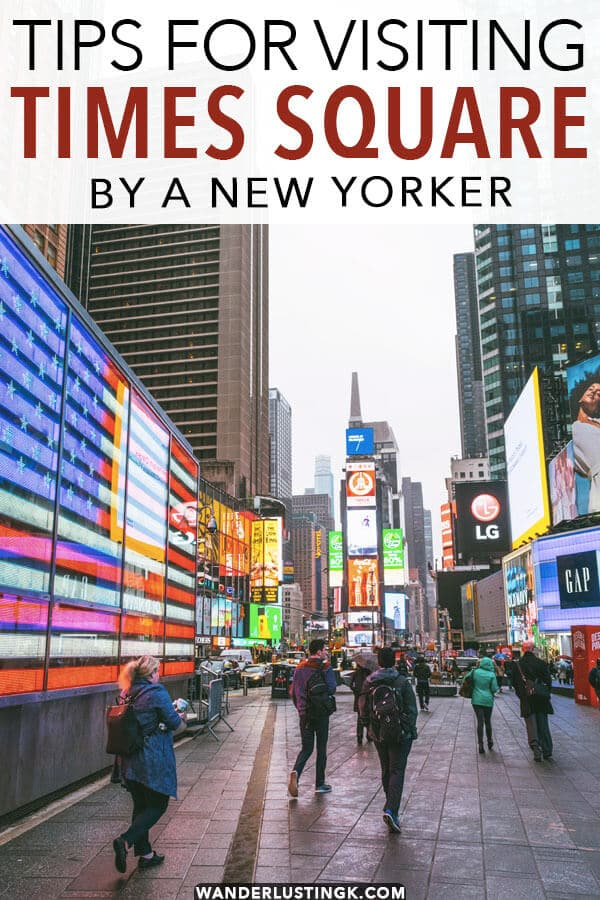 Planning to visit Times Square in New York? Read tips by a New Yorker on what to do in Times Square!