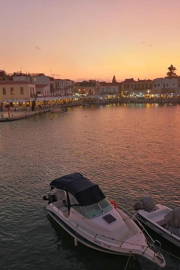 Beautiful sunset seen from the old Venetian fortress in Heraklion, Crete, Greece!