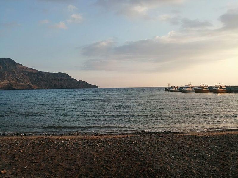 Sunset on the beach near Plakias, Crete
