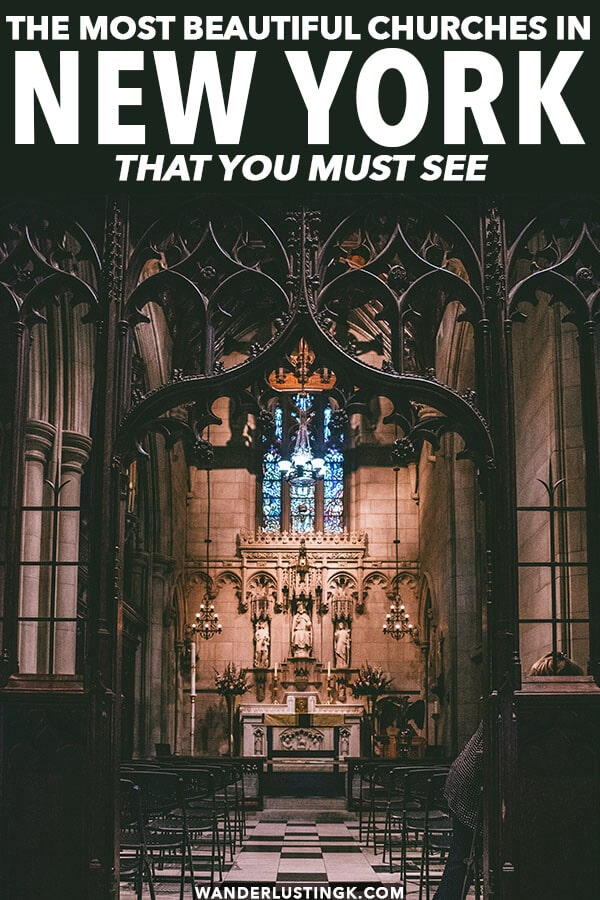 Curious about the most beautiful churches and religious building in New York City? Your insider guide to these beautiful places in New York City! #nyc #newyork #newyorkcity