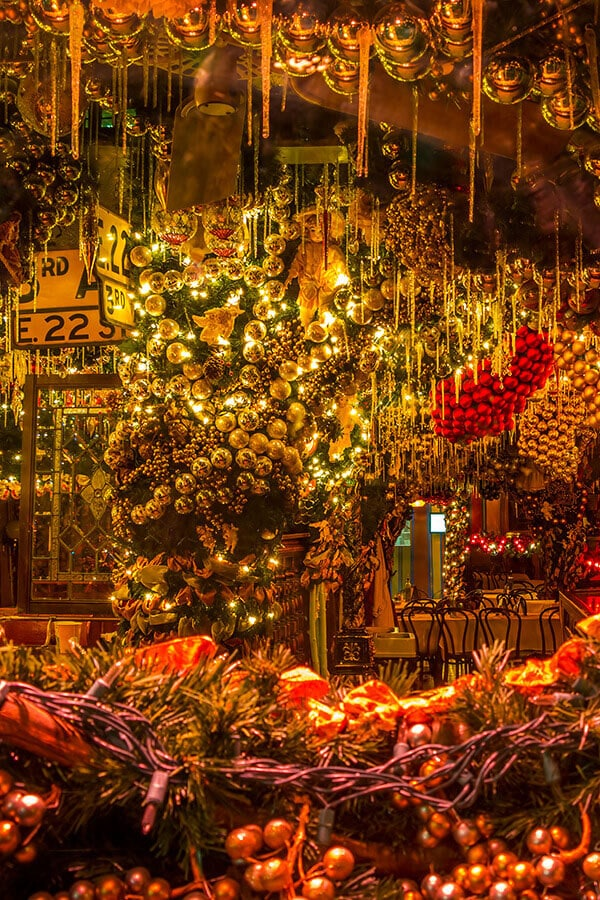 Famous Christmas-themed cafe in New York City dekked out for Christmas in New York City!