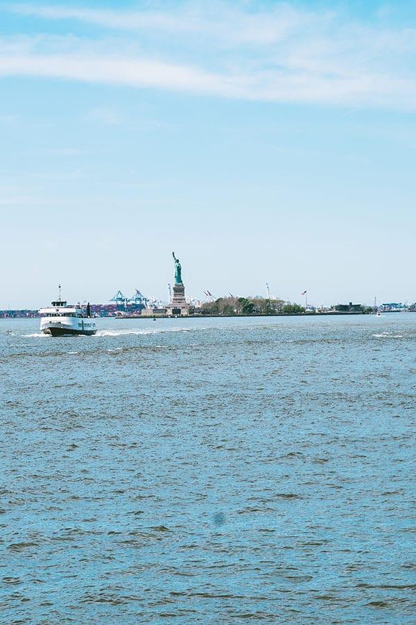 Statue of Liberty seen from Battery Park, Manhattan!