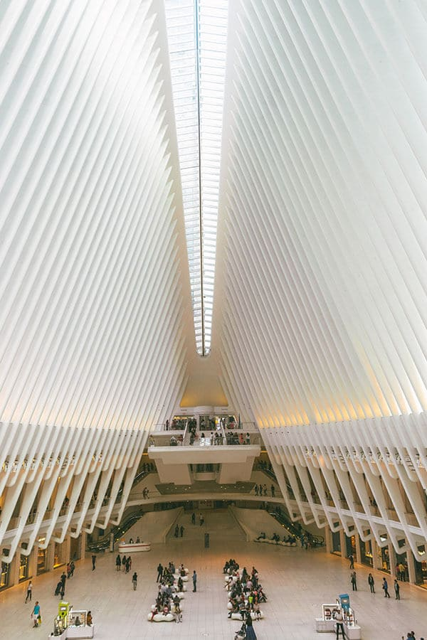 Oculus, one of the most iconic places to visit in New York City during a two day visit.