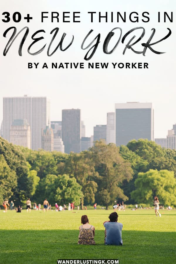 Looking to enjoy New York on a budget? Read about 30+ FREE and fun things to do in New York City on a budget by a native New Yorker!