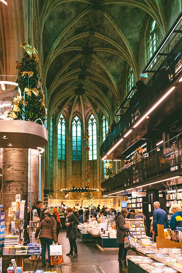Dominicanenkerk Bookstore in Maastricht, the Netherlands. This beautiful former 15th century church turned bookstore is worth a visit!