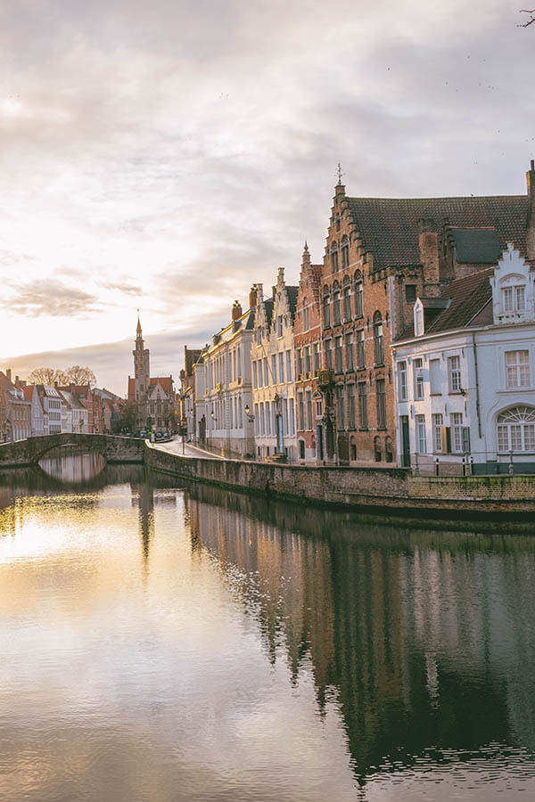 Beautiful view from a quieter canal in Bruges. You can escape the crowds if you know where to look!