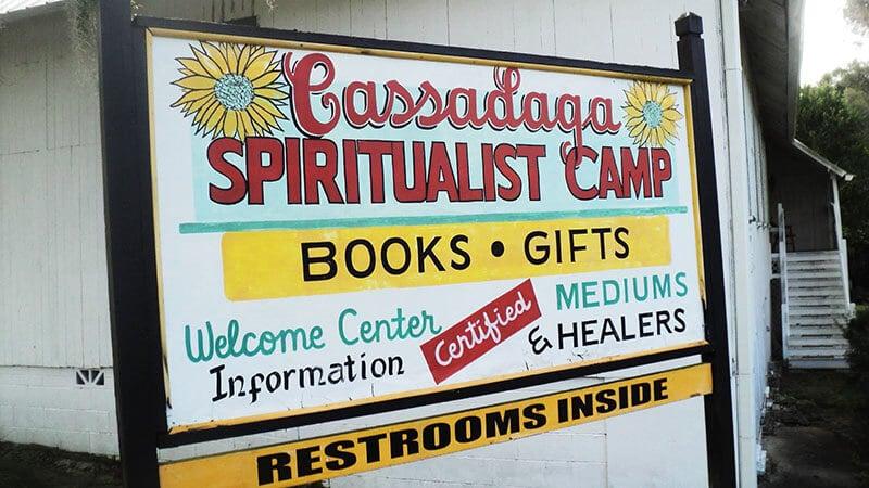 Cassadaga Spiritualist Camp sign in Cassadaga, Florida